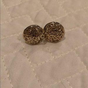 Kendra Scott gold stud earrings